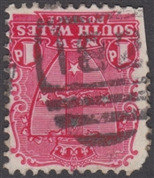 NSW numeral postmark 182 NEWTOWN barred numeral on 1d shield New South Wales Australia