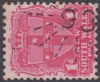 NSW numeral postmark 93 GERRINGONG rays numeral on 1d View of Sydney New South Wales Australia