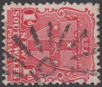 NSW numeral postmark 10 CARCOAR rays numeral on 1d shield New South Wales Australia