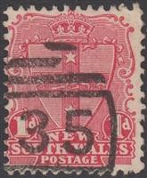 NSW numeral postmark 35 GOULBURN barred numeral on 2d QV New South Wales Australia