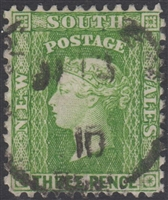 NSW SG 327c 1903-08 three pence