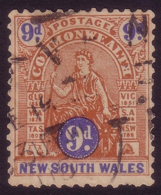 NSW SG 330 1903 nine pence