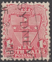 NSW SG 334 1905-10 one penny shield