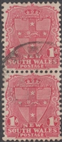 NSW SG 334 1905-10 one penny shield joined pair