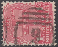 NSW numeral postmark 9 BATHURST barred numeral on 1d shield New South Wales Australia