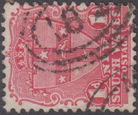 NSW numeral postmark 182 NEWTOWN oval rings numeral on 1d shield New South Wales Australia