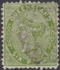 QLD SG 143 1879-81 6d Yellow-Green First 1st Sideface Queen Victoria Six Pence Queensland