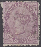 QLD SG 145 1879-81 1s 1/- Pale Lilac First 1st Sideface Queen Victoria One Shilling Queensland