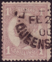 QLD SG 251 1897-1908 one shilling