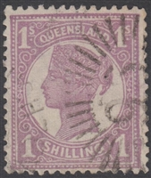 QLD SG 252 1897-1908 1s 1/- Dull Mauve Queen Victoria sideface Queensland One Shilling