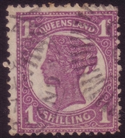 QLD SG 253 1897-1908 one shilling