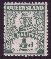 QLD SG 286 1907-11 one halfpenny MINT