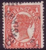 QLD SG 288 / ACSC Q12    1907-11 1d  SINGLE LINE PERFORATION