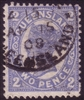 QLD SG 289a 1907-11 1906 Die. Two pence Bright blue