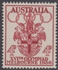 SG 290 1956 Olympics Arms of Melbourne 4d Carmine-red MINT HINGED Original Gum