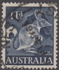 SG 319 1961 Rabbit Bandicoot 11d Eleven Pence Deep Blue