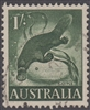 SG 320 1959 Platypus 1/- One Shilling Deep Green