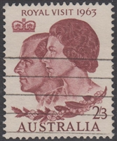 SG 349 Queen Elizabeth II and Duke of Edinburgh 1963 2s3d brown-lake