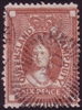 QLD SG F17 1871-72 6d red-brown stamp duty