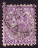 SA SG 184 1883-1895  four pence Perforation 10