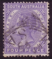 SA SG 189 1893-1894 four pence Perforation 15