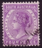 SA SG 193 1895-1899 four pence Perforation 13
