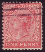 SA SG 294 1905-1911  one penny. Perforation 12x11.5