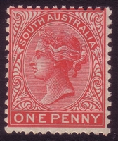 SA SG 294a MH 1905-1911  one penny. Perforation 12x11.5