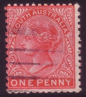 SA SG 294a 1905-1911  one penny. Perforation 12x11.5