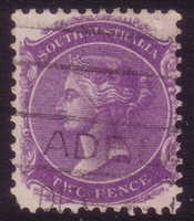 SA SG 295 1905-1911  two pence bright violet. Perforation 12x11.5