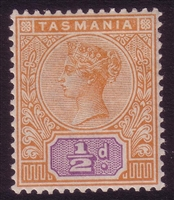 TAS SG 216 MINT MH 1892-1899 halfpenny orange and mauve tablet.
