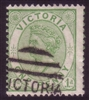 VIC SG 208 1882-84 One Penny Yellow-Green