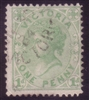 VIC SG 209b 1882-84 One Penny Pale Green