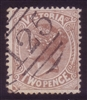 VIC SG 210a 1882-84 Two Pence Chocolate