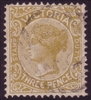 VIC SG 299a 1885-1895 Three Pence pale ochre