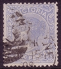 VIC SG 301 1885-95 Six Pence chalky blue