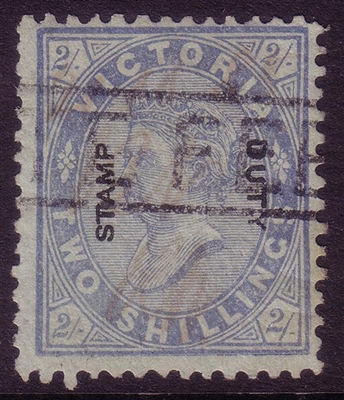VIC SG 307 Cleaned Fiscal? 1885 STAMP DUTY OVERPRINT Two Shillings