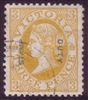 VIC SG 308a 1885 STAMP DUTY OVERPRINT Three Pence Dull brownish orange