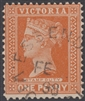 VIC SG 332 1896-99 One Penny brown-red
