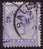 VIC SG 365 1899-1901 Six Pence dull ultramarine
