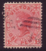 VIC SG 385b 1901-10 One Penny