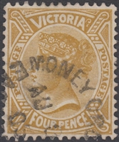VIC SG 390a 1905 Four Pence 4d Brownish-bistre Queen Victoria Australia