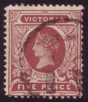 VIC SG 391/391a 1901-10 Five Pence