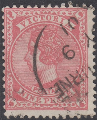 VIC SG 393 1901 Nine Pence 9d Dull Rose-Red Queen Victoria Australia