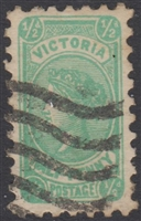 VIC SG 401 1902 perf 11 ½d halfpenny blue-green Victoria Half-Penny Bell design