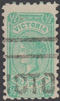 VIC SG 416 1905 perf 12½ halfpenny ½d blue-green Victoria Half-Penny Bell design