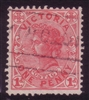 VIC SG 417b 1905-13 One Penny Rose-Carmine