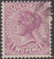 VIC SG 418c 1905-13 Two Pence Bright mauve Queen Victoria Australia