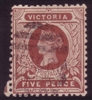 VIC SG 422a 1905-13 five pence