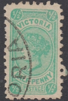 VIC SG 457 1912 Half-penny ½d blue-green Victoria Halfpenny Bell design
